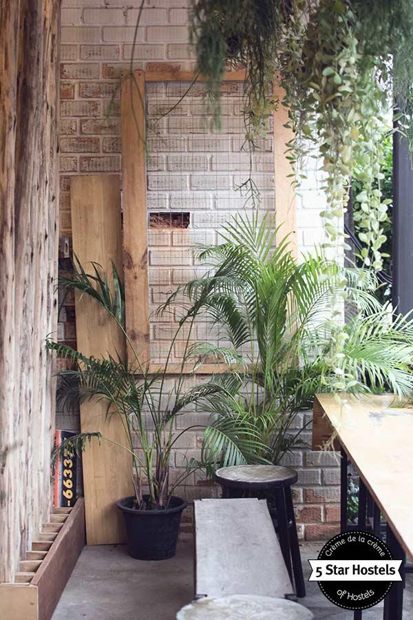 Green oasis corner at SleepClub Krabi