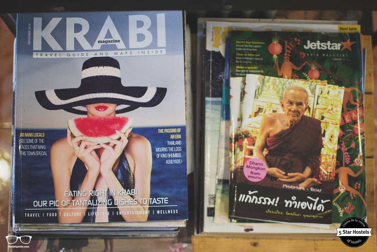 Magazines at SleepClub Krabi