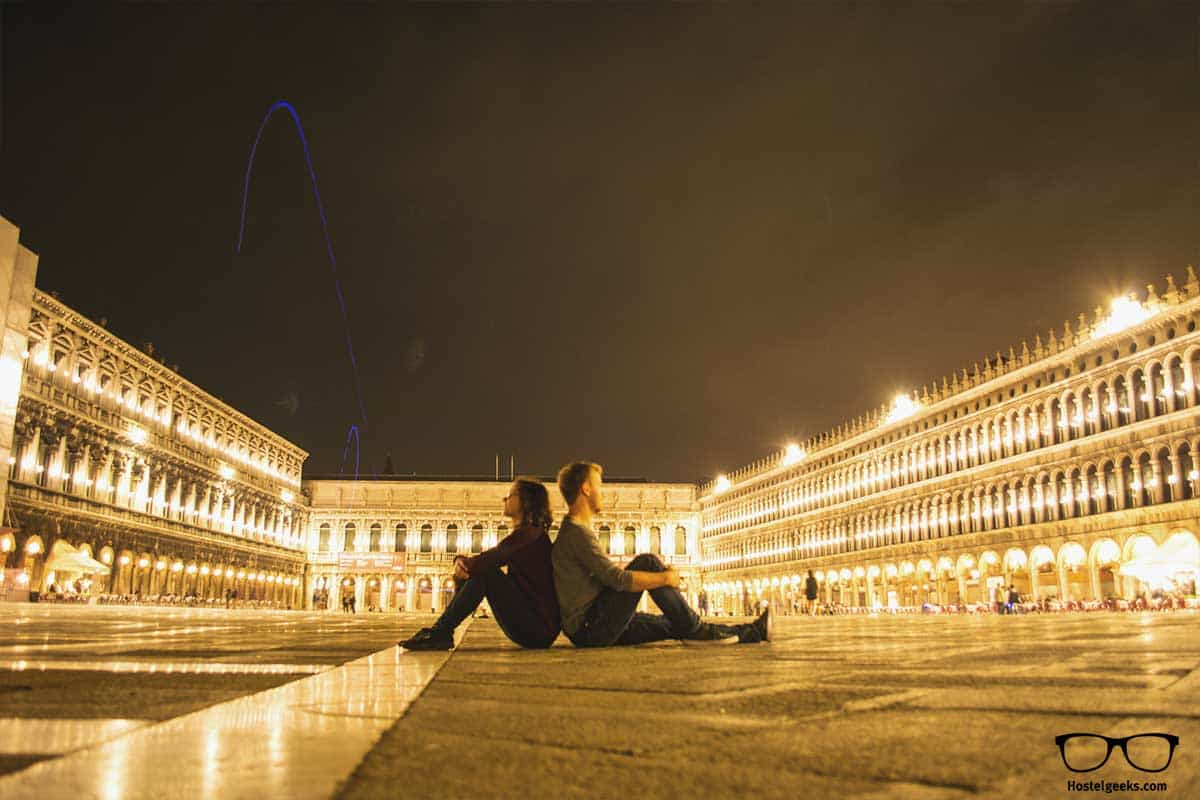 Piazza San Marco during night