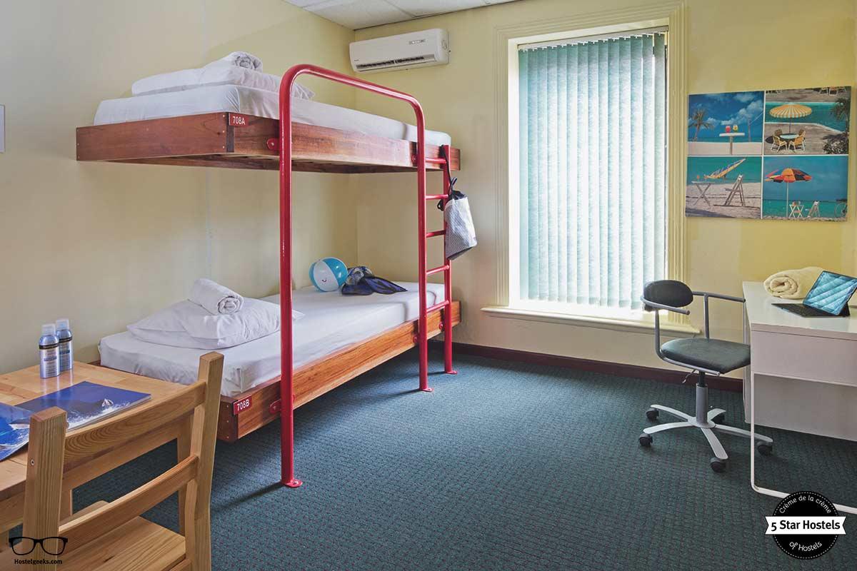 cozy dorm at the Ritz Village Hostel Curacao
