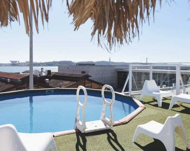 Sunset Destination Hostel Lisbon and its Roof Top Swimming Pool