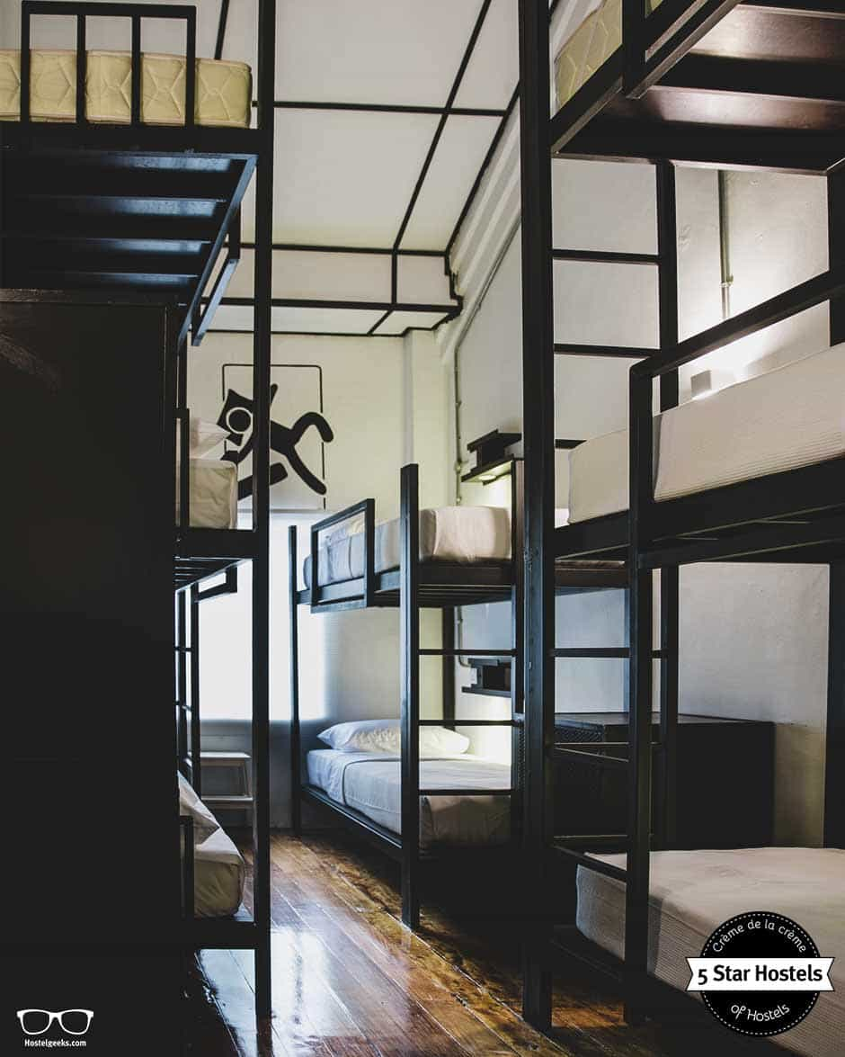 Dorm and 3-store bunk beds at Paper Plane Hostel in Kuala Lumpur