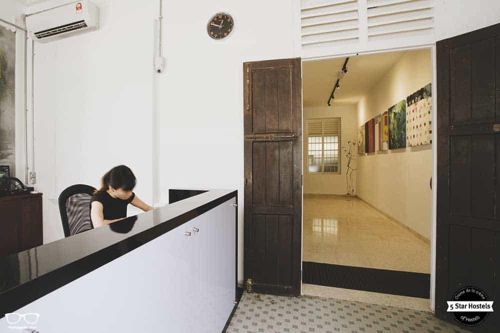 Reception Desk at Paper Plane Hostel