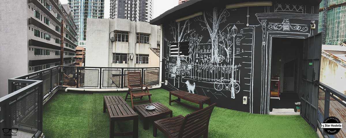 Time to mingle on the roof top terrace at Paper Plane Hostel