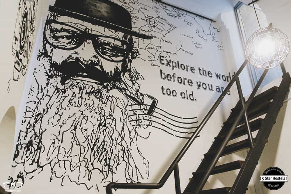 Wise words at the walls of Paper Plane Hostel