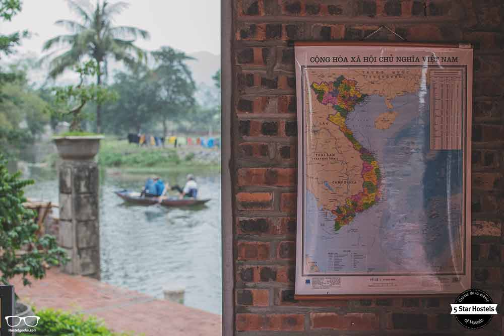 Vietnam Map in Tam Coc Bungalow
