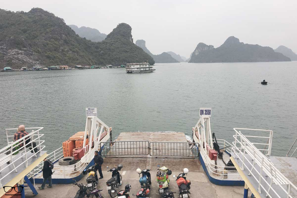 Scenic ferry ride from Ha Long city to CatBa island
