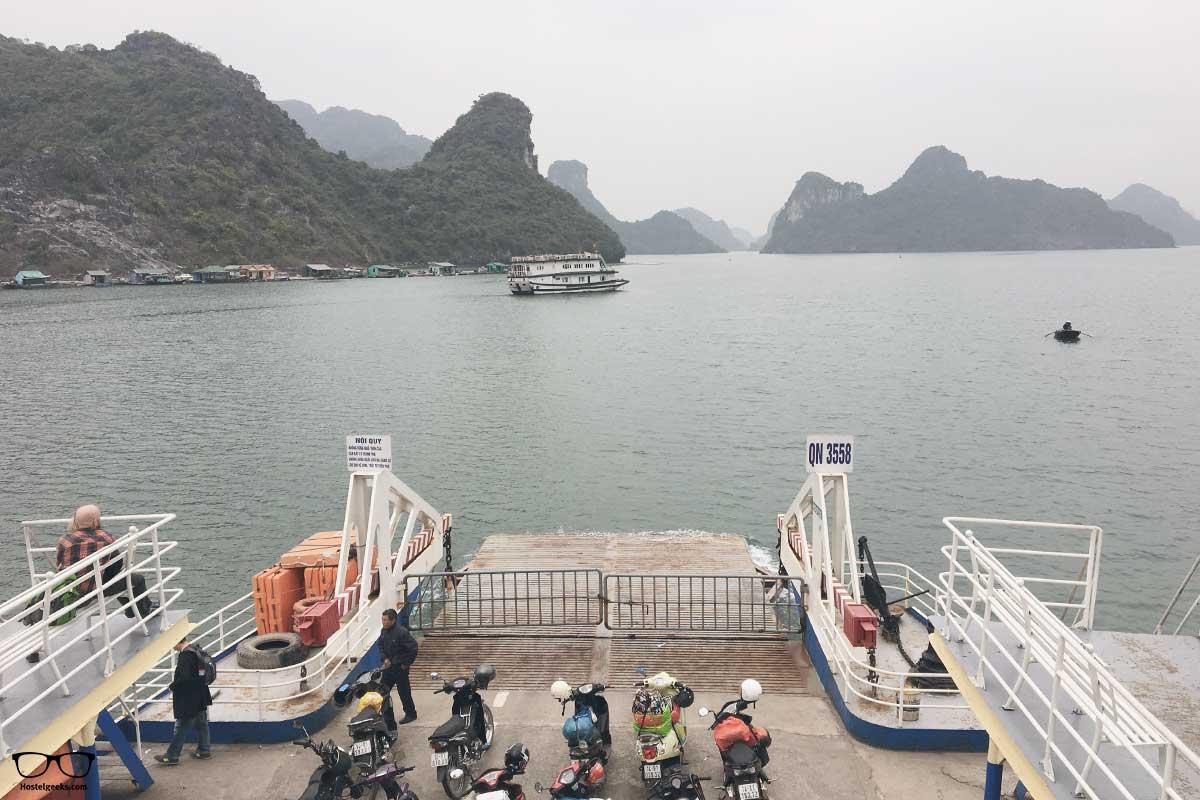 Scenic ferry ride from Ha Long city to CatBa island