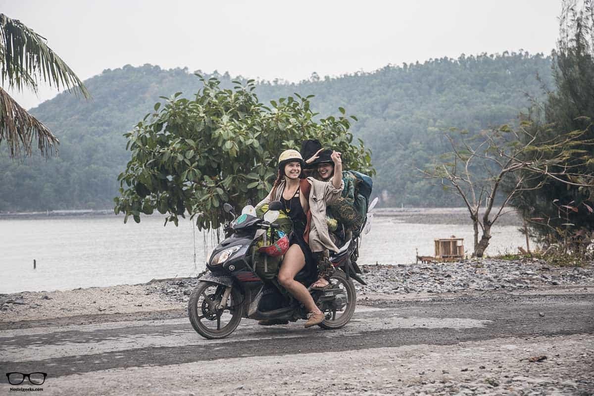 Having fun with a motorbike