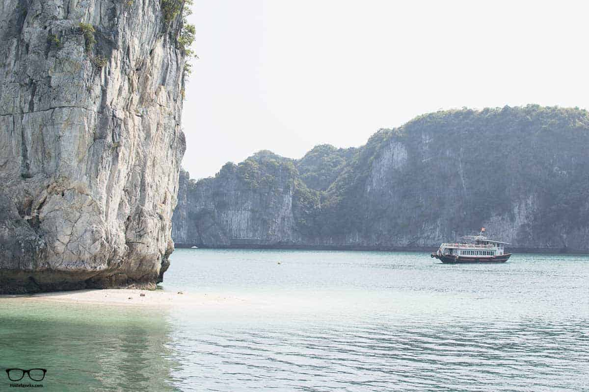 Time to swim during Ha Long Bay Tour