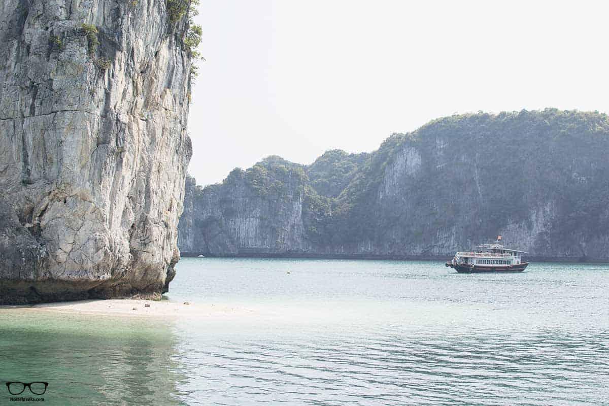 Time to swim during Ha Long Bay Tour