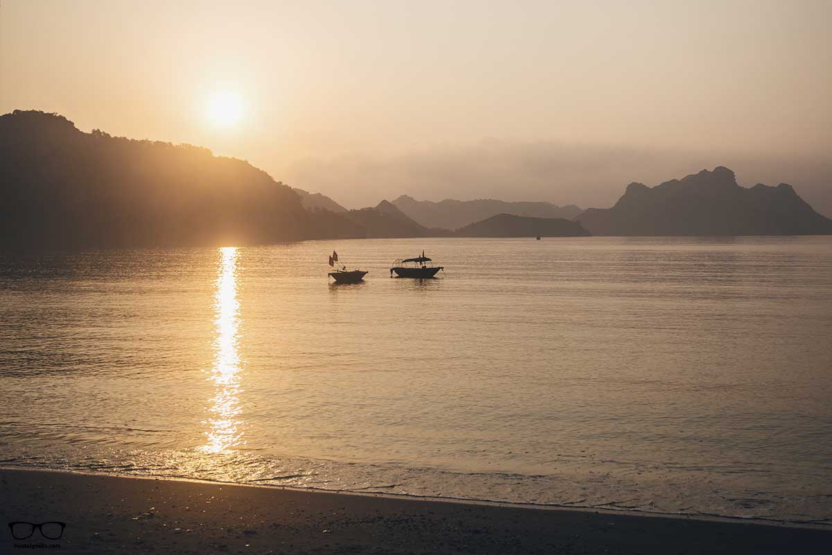 Sunset time in Cat Ba Island