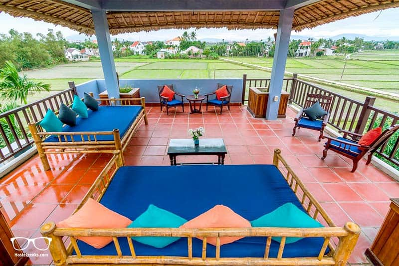Best Homestays in Hoi An - we love homestays with a view over rice paddies