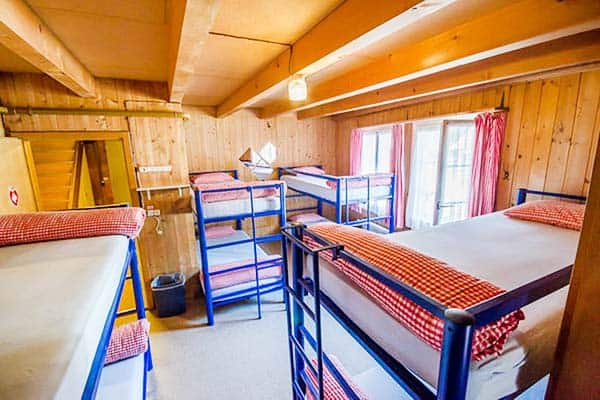 The hostel dorm at Balmers Lodge in Interlaken