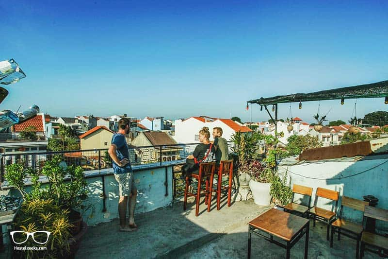 Hostels in Hoi An, Vietnam - the roof top terrace at Leo Leo Hostel in Old Town Hoi An