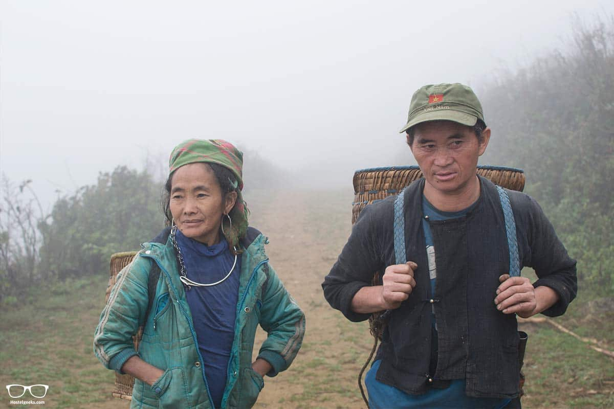 Meeting Locals along the trekking