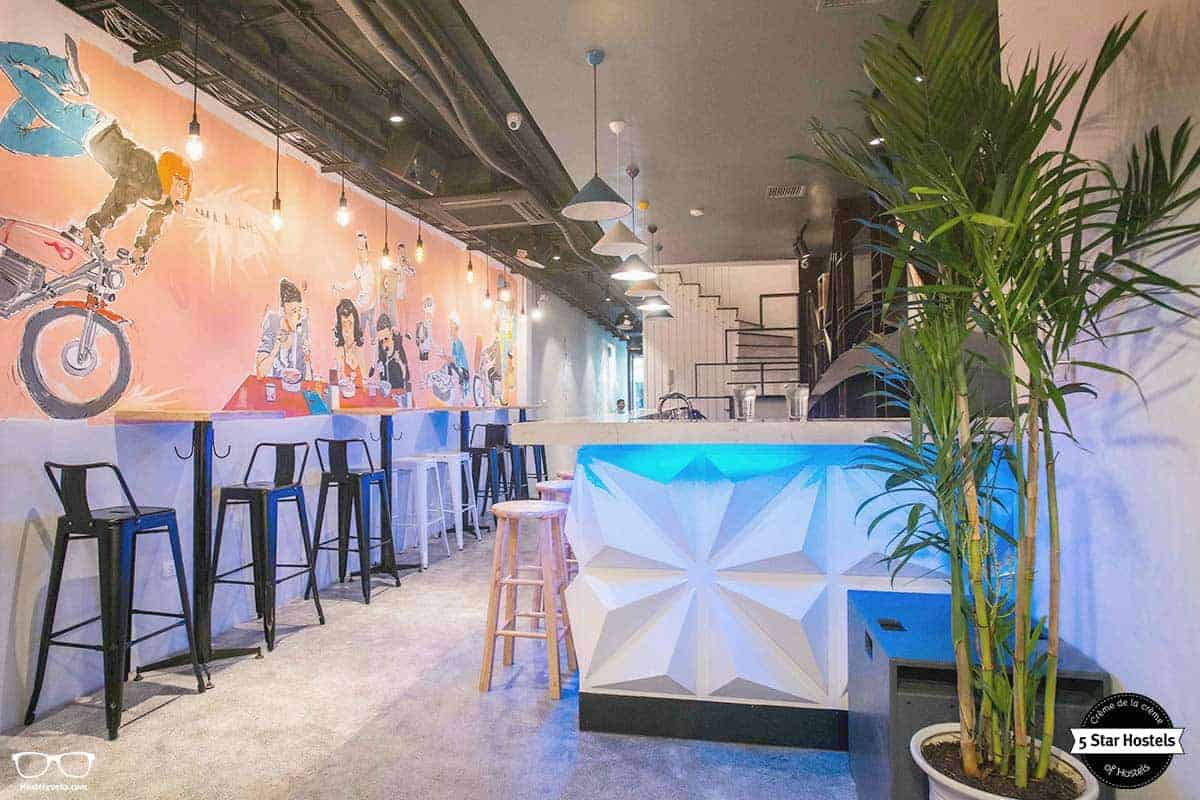 Time to socialize at NEXY Hostel, Hanoi, Vietnam