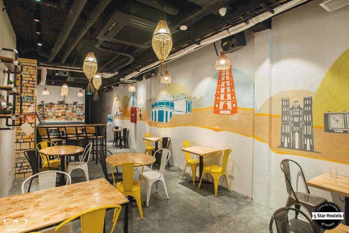 Breakfast area at NEXY Hostel Hanoi