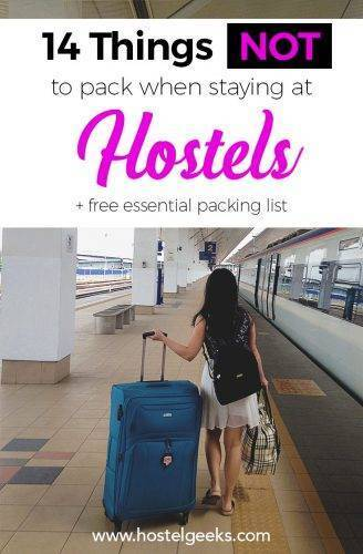 The NOT-packing List for Hostels