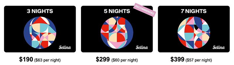 Selina Gift Cards - perfect gift for Backpacker