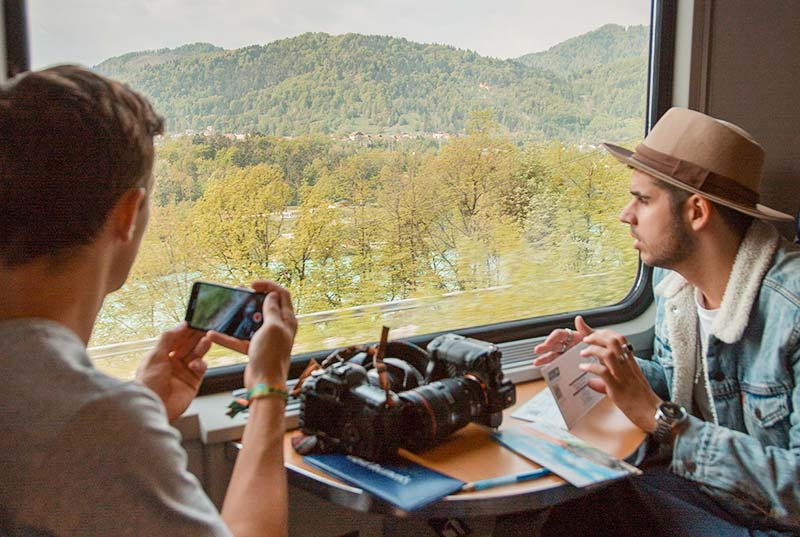 Take the train when Backpacking Portugal