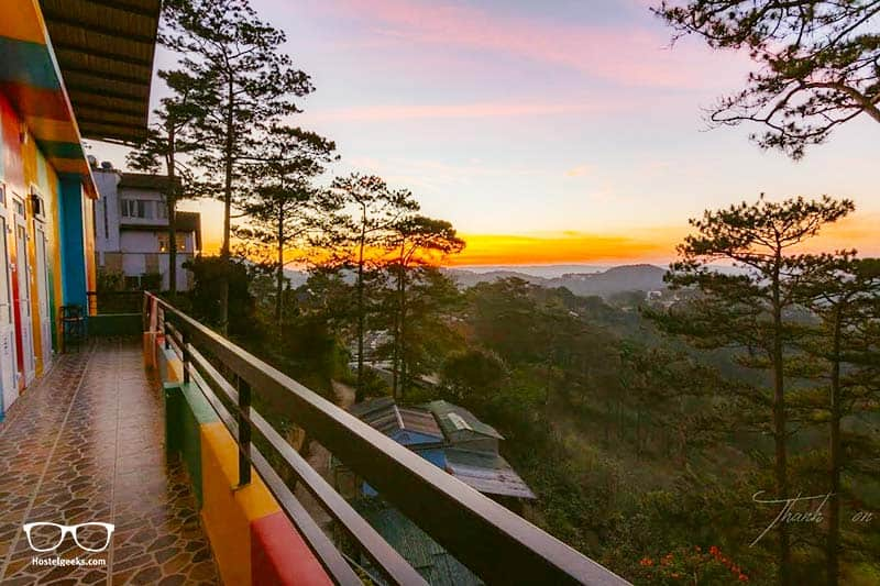 Views from iColor Hostel in DaLat