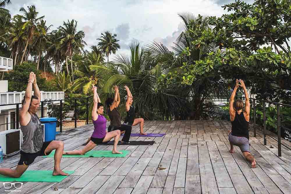 Yoga at Hangover hostel Mirissa