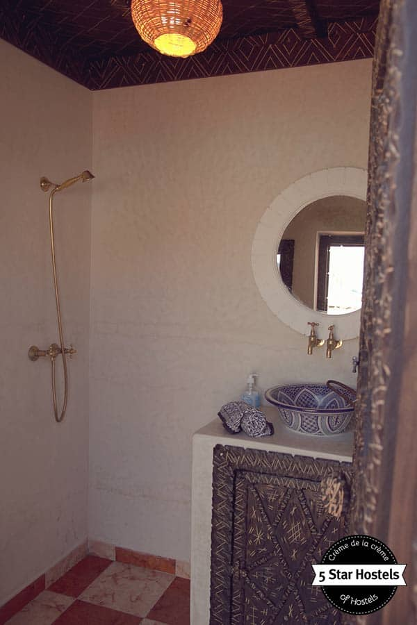 Bathroom at Amayour Surf Hostel
