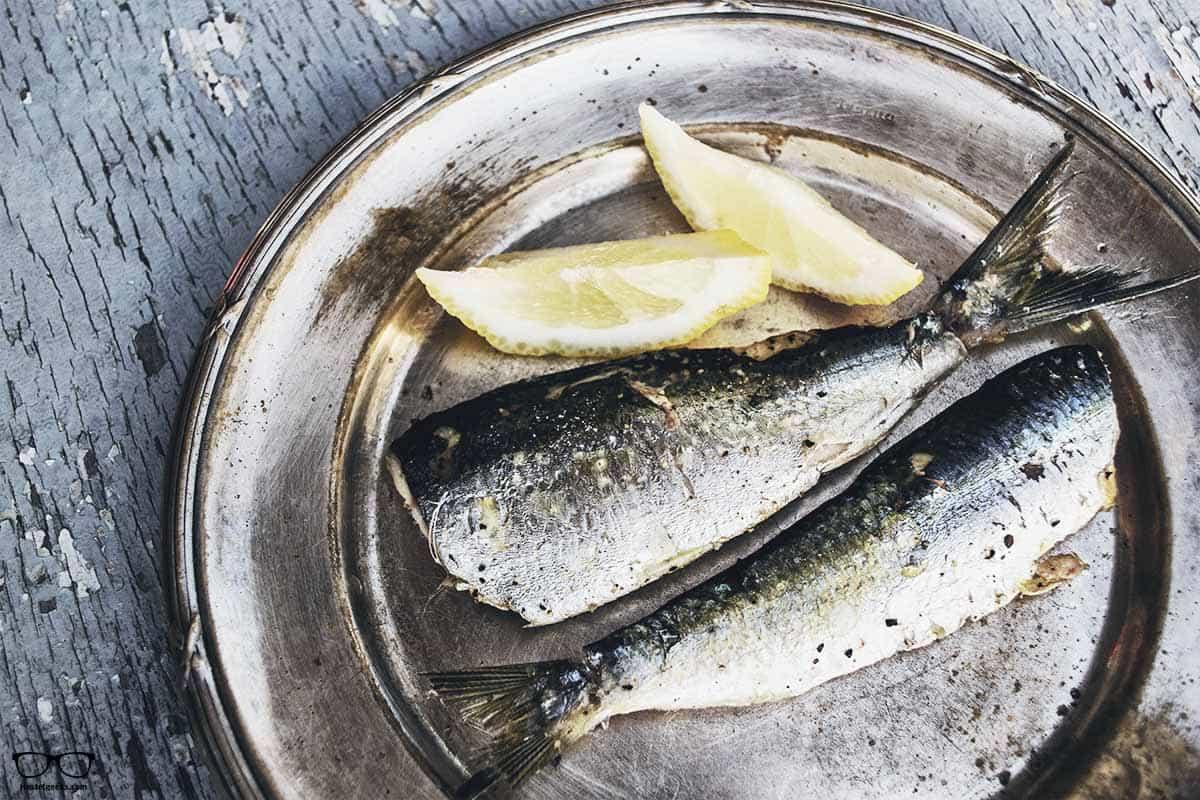 Delicious fish in Santorini