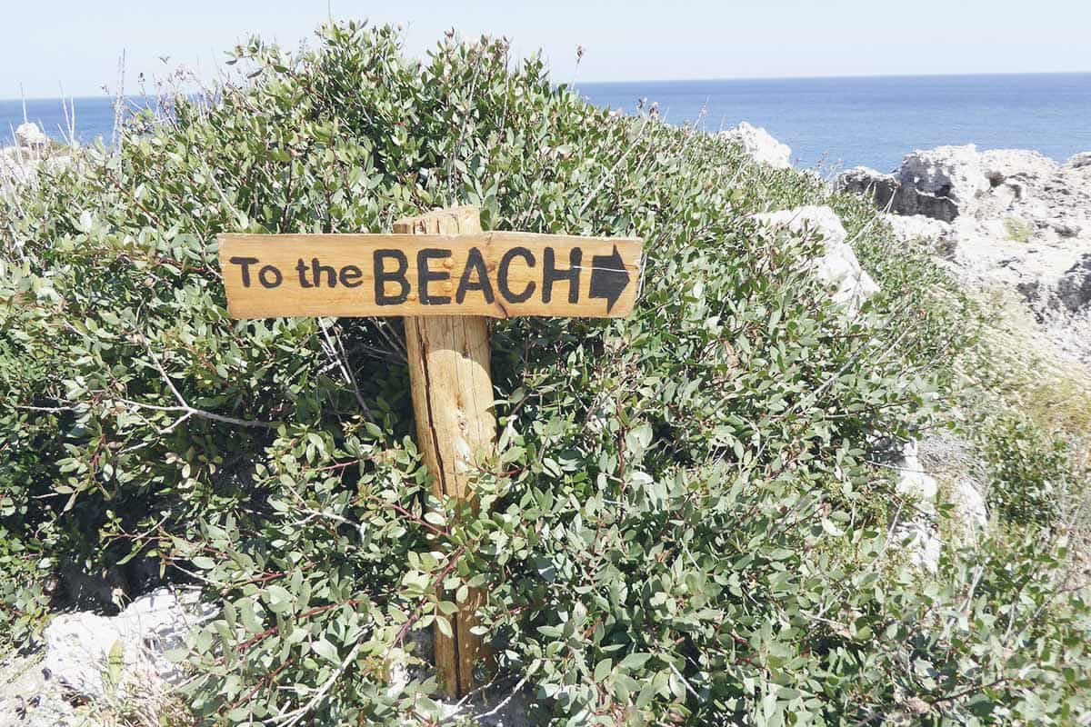 Pebbles beach in Rhodes