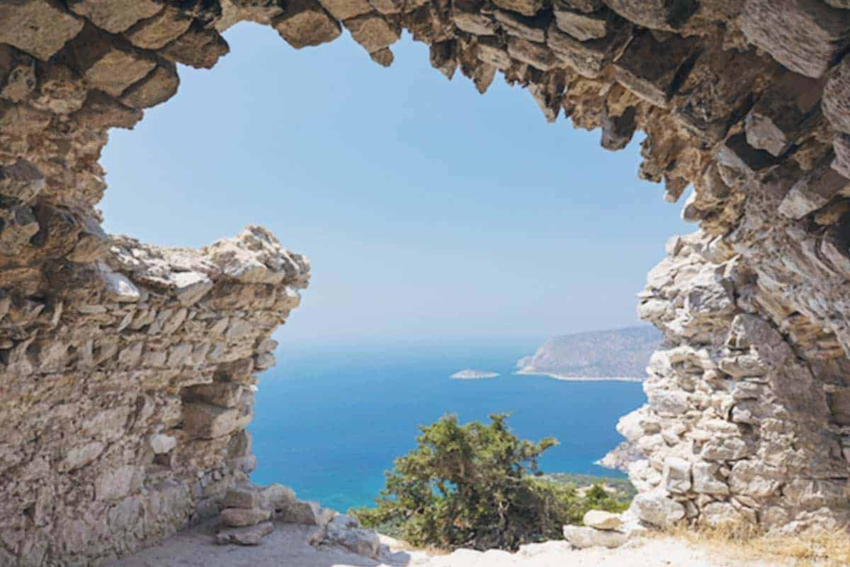 a view from Monolithos Rhodes