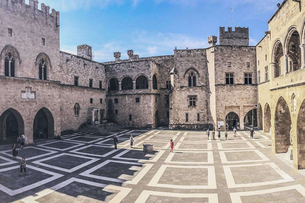 Visit the old town in Rhodes