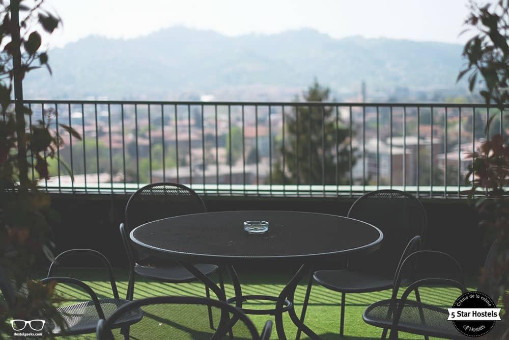 Bergamo Hostel terrace