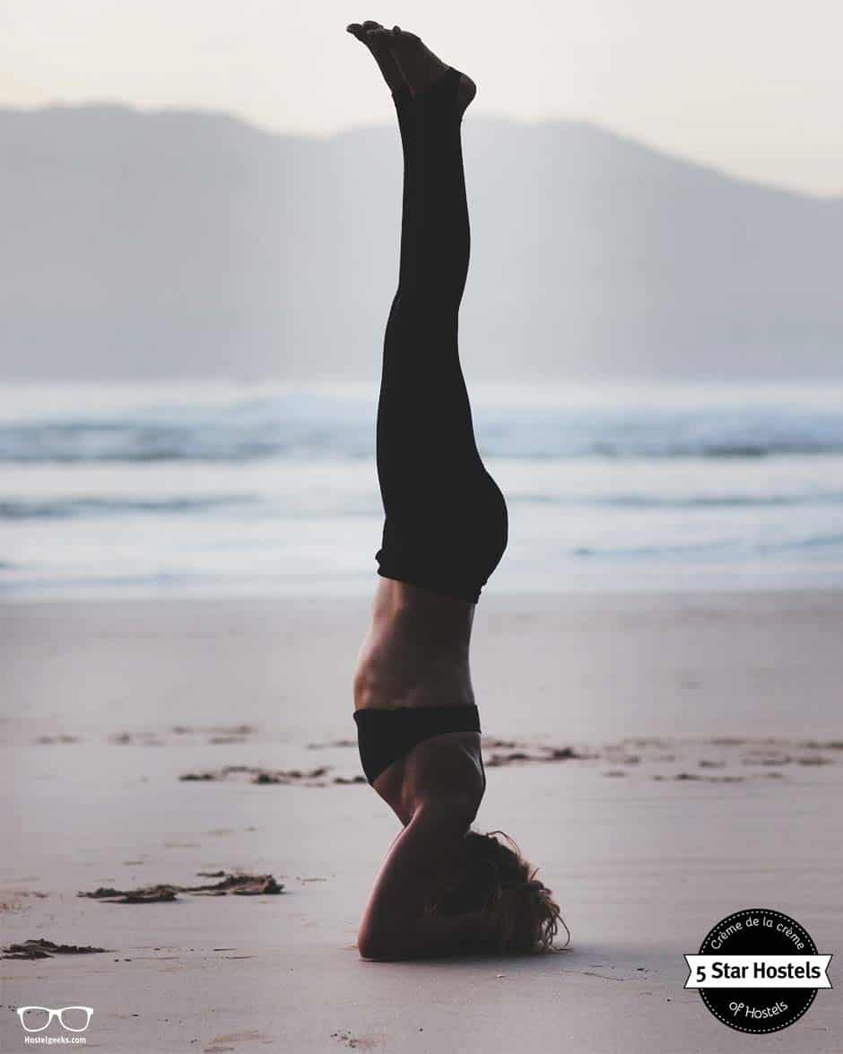 Yoga at Amayour Surf Hostel in Morocco