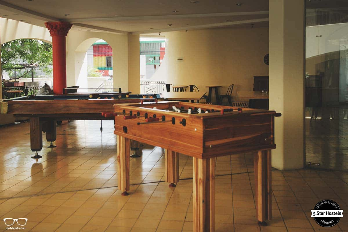 Time to play at the 5 Star Hostel in Costa Rica