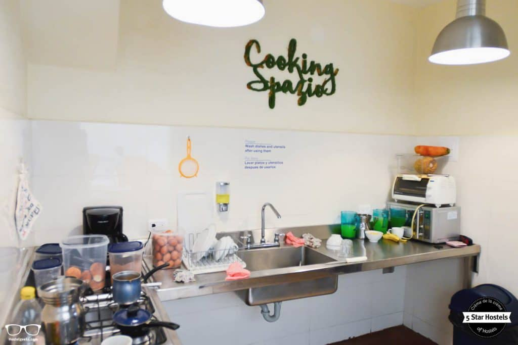 Your space to cook at Hobu Hostel, Bogota