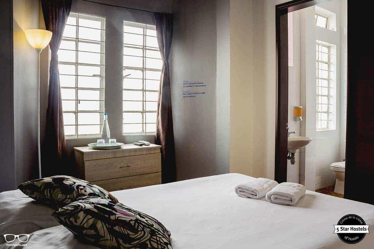 Private room at Hobu Hostel Bogota Colombia