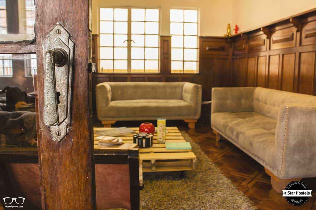Common space at Hobu Hostel