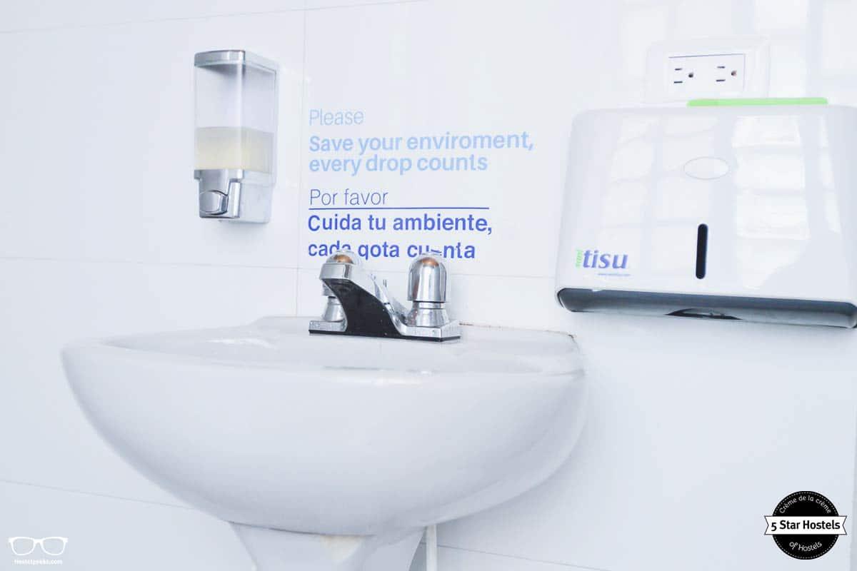 Bathroom details at Hobu Hostel