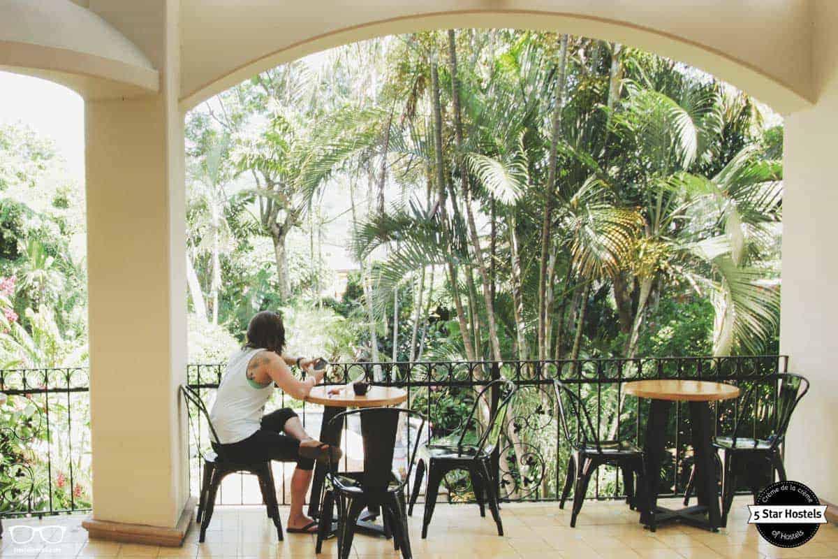 Enjoying Coffee at Fauna Luxury Hostel