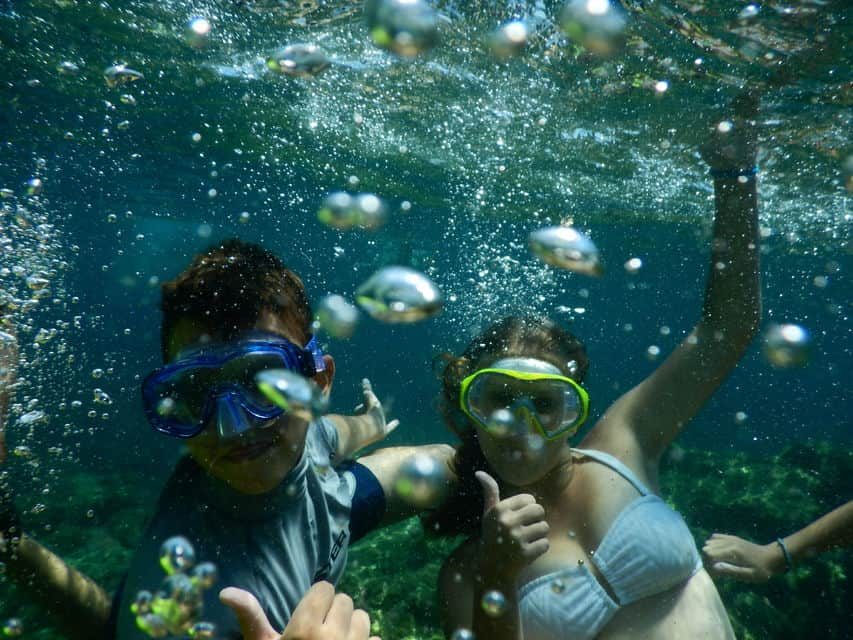 Snorkeling - we are huge fans of diving and snorkeling