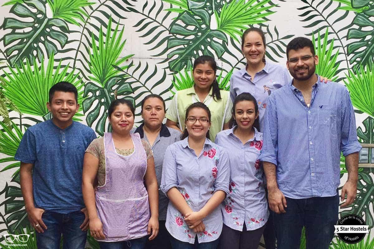 Smiley team at Cucuruchos Boutique Hostel