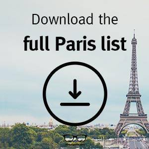 Download the full List for Things to do in Paris