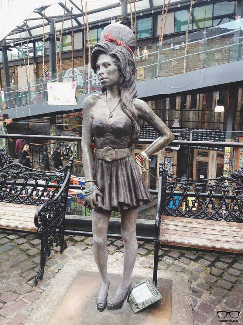 Visit Amy Winehouse Statue in Camden Town