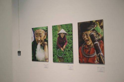 Photos taken at the art exhibition