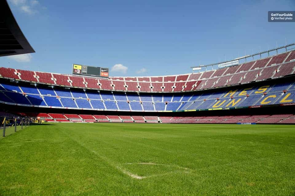 See the famous Camp Nou from the inside