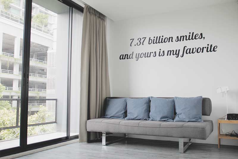 Beautiful Hostel Quote - 7.37 billion smiles and yours is my favorite