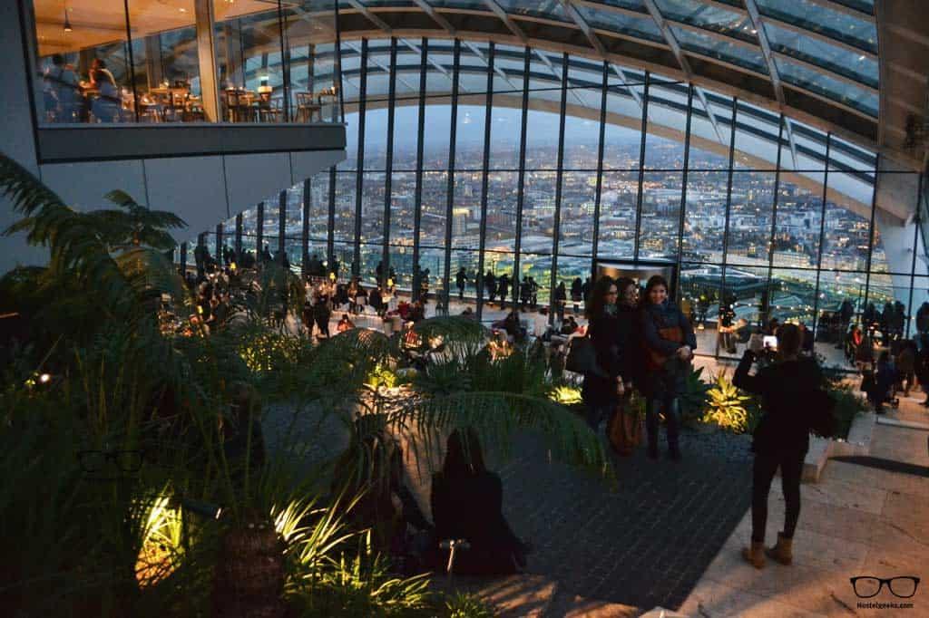 The Sky Garden inside