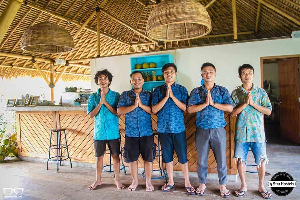 Local staff at Captain Coconuts Gili Air