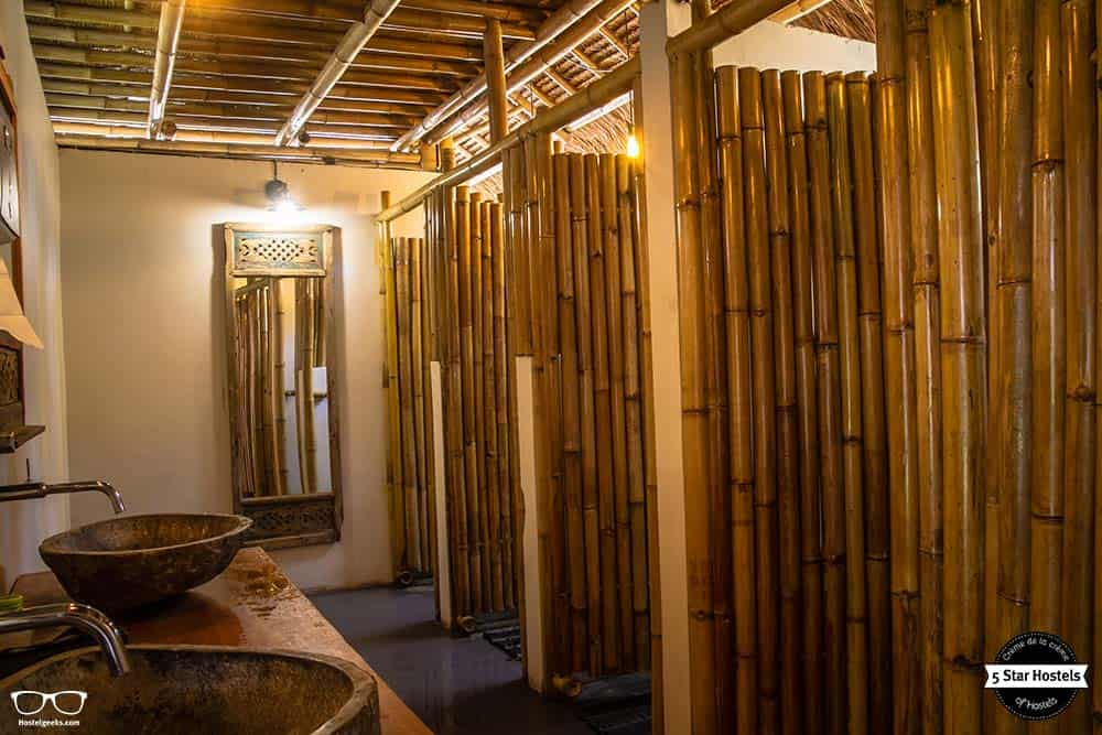 Bamboo toilet at Captain coconuts
